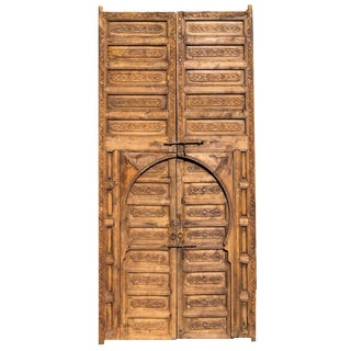 1950s Moroccan Aged Wooden Door