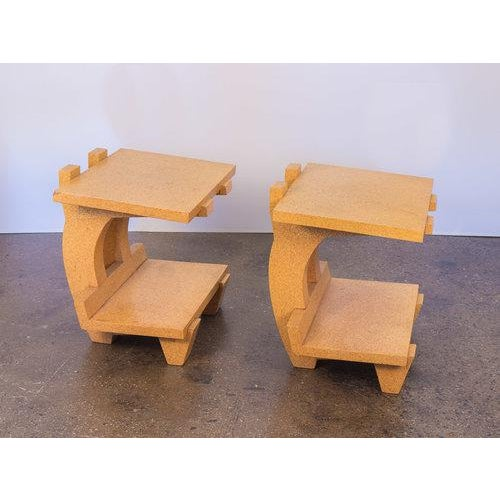 Kevin Walz Cork Side Tables - a pair For Sale - Image 11 of 11