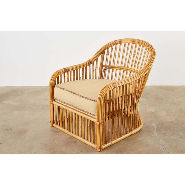 Late 20th Century Set of Eight Michael Taylor Organic Modern Bamboo Lounge Chairs For Sale - Image 5 of 13
