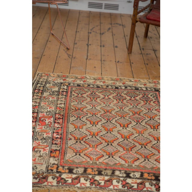 "Antique Hamadan Square Rug - 4'1"" x 4'9"" For Sale - Image 11 of 12"