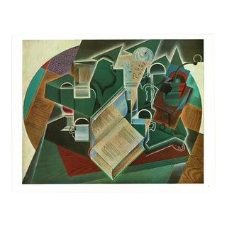 "1940s Juan Gris ""Book, Pipe and Glass"" Swiss Lithograph For Sale"