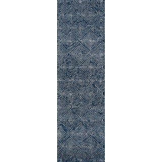 """Madcap Cottage Roman Holiday via Del Corso Navy Area Rug 2'3"""" X 8' Runner For Sale"""