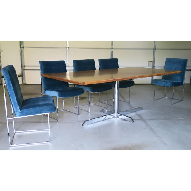 Mid-Century Milo Baughman for Thayer Coggin Rosewood Table and Dining Chairs Set For Sale - Image 10 of 10