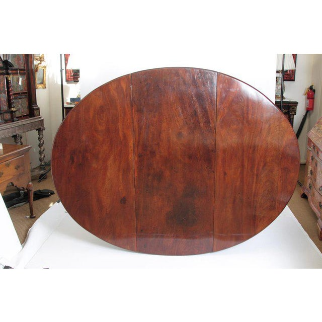 Brown George II Mahogany Dining Table With Spanish Feet For Sale - Image 8 of 13