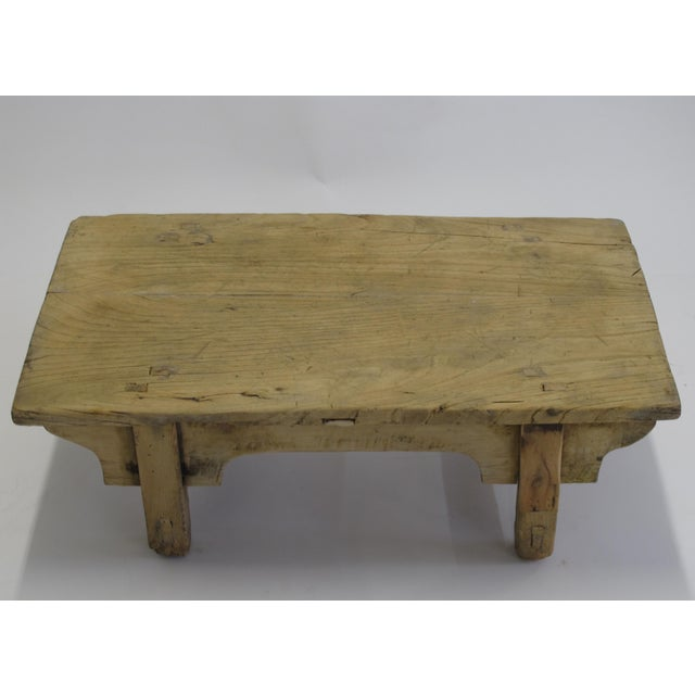 1940s Small Rustic Kang Accent Table or Coffee Table For Sale - Image 5 of 7