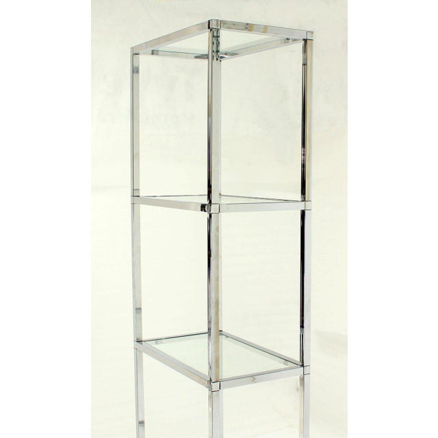 Excellent Narrow And Tall Mid Century Modern Chrome And