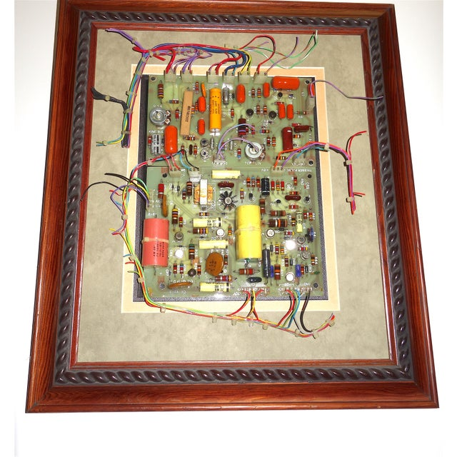 Abstract Mid Century Component Art Wall Sculpture by Bill Reiter. Wood Framed & Matted. For Sale - Image 3 of 13