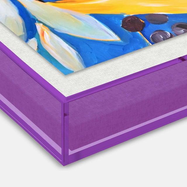 IL Bosco by Lulu DK in Dark Purple Transparent Acrylic Shadowbox, XS Art Print Overall Size: 16x12. Image Size: 14x10....