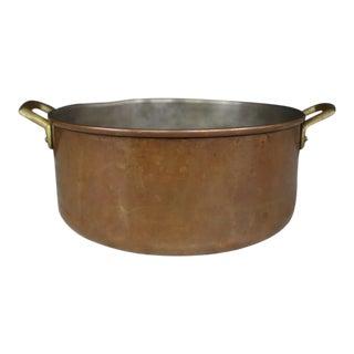 Copper Rondeau Pot W/ Handles For Sale