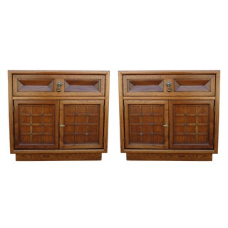 American of Martinsville Walnut Nightstands