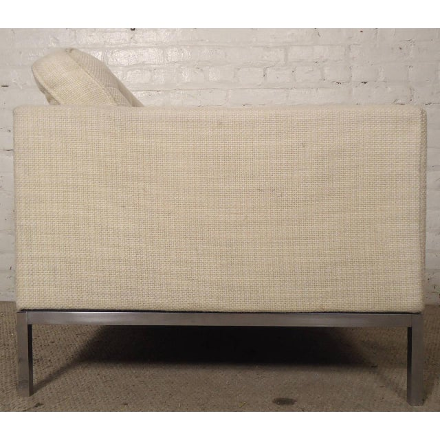 Mid-Century Upholstered Armchairs by Knoll Associates - a Pair For Sale - Image 5 of 10