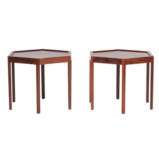 1960s Danish Modern Hans Anderson for Artex Octagonal Side Tables - a Pair For Sale