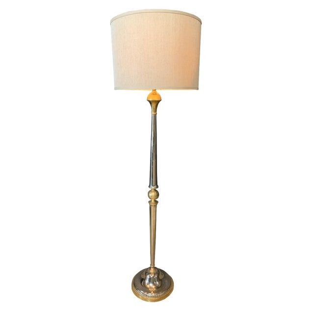 Jamie Young 'Classique' Floor Lamp With Large Drum Shade For Sale