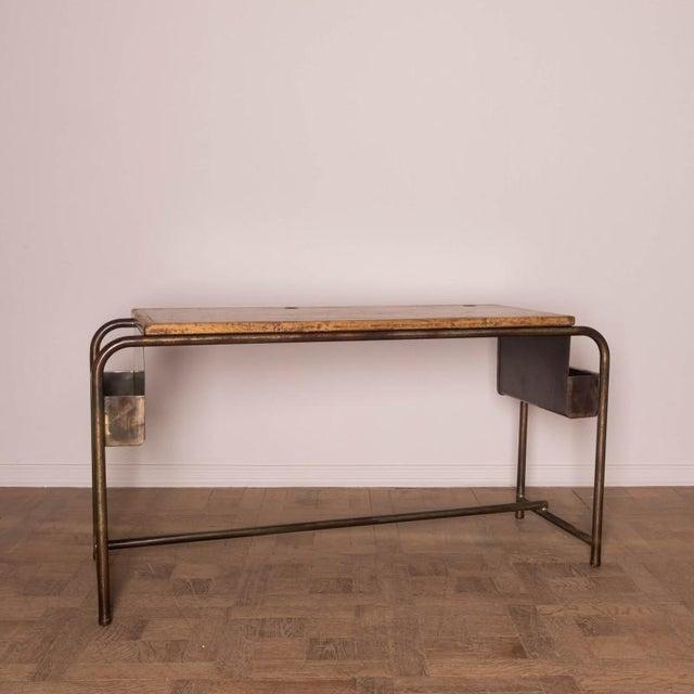 Industrial 1930's Belgian School Desk For Sale - Image 3 of 5