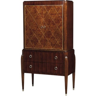 Scarborough House Purple Heart Wine Cabinet For Sale