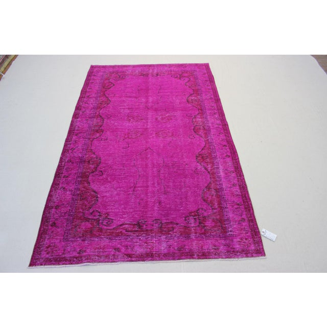 Turkish Oriental Over Dyed Rug- 5′4″ × 8′10″ - Image 2 of 8