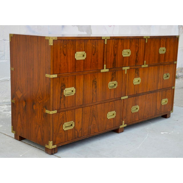 Gold Walnut Baker Chests of Drawers - a Pair For Sale - Image 8 of 12