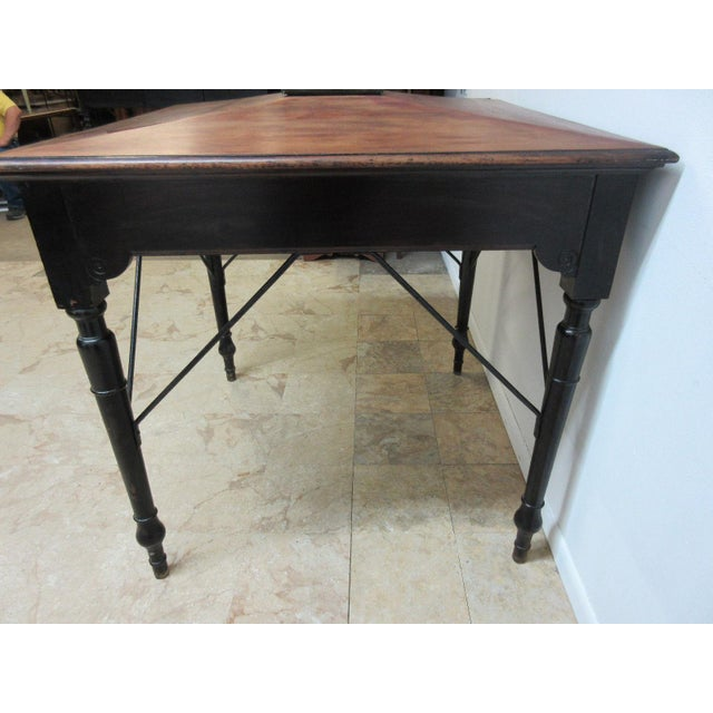 Black Antique Victorian Primitive Slant Top Plantation Writing Desk For Sale - Image 8 of 11