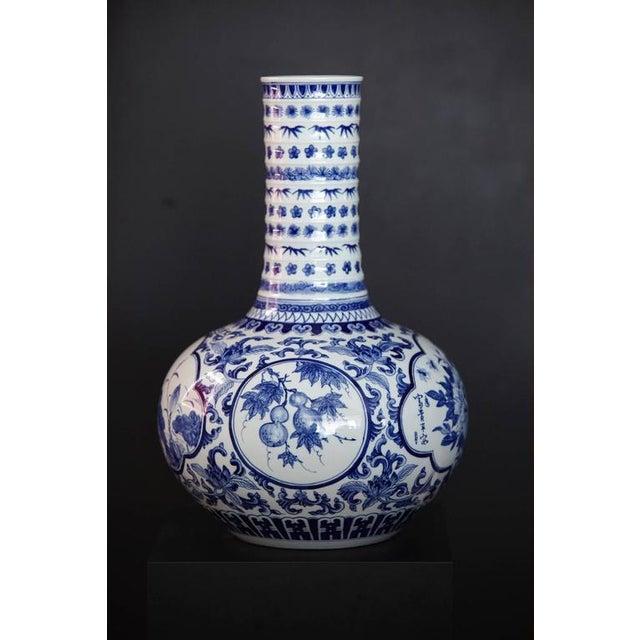 Japanese Blue and White Porcelain Vase - Image 2 of 8