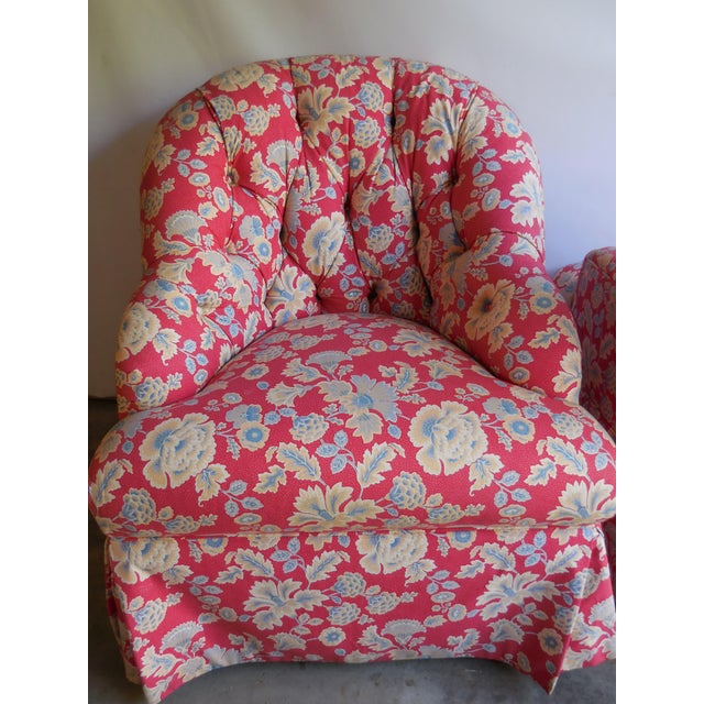 1950s Floral Accent Chairs - A Pair - Image 6 of 6