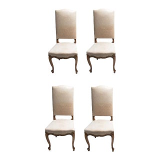 Louis XV Leather Dining Chairs - Set of 2