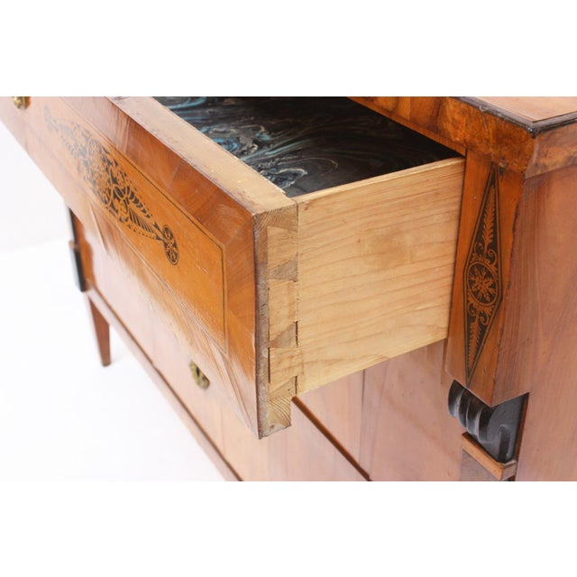 19th Century Three-Drawer Biedermeier Chest For Sale In Dallas - Image 6 of 7