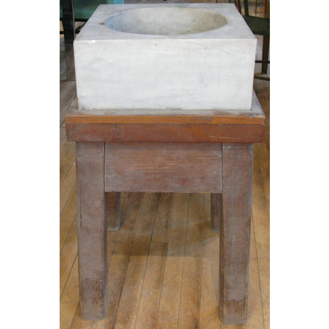 Antique 19th Century Marble Mortar From a Newport Ri Estate For Sale In New York - Image 6 of 6