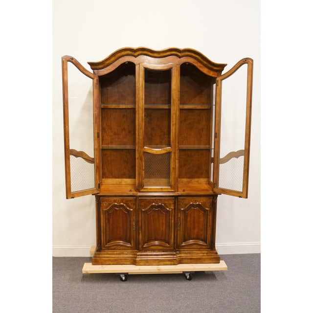 Stanley Furniture 20th Century French Country Stanley Furniture Fleur De Bois China Cabinet For Sale - Image 4 of 13