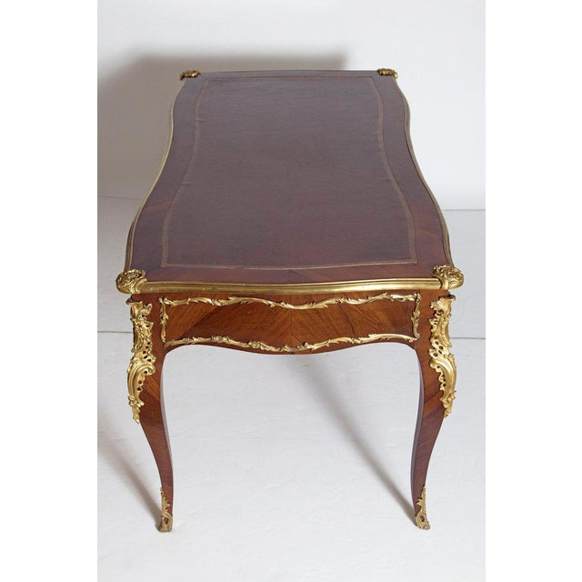 Late 19th Century Late 19th Century Louis XV Style Rosewood and Ormolu Bureau Plat For Sale - Image 5 of 13