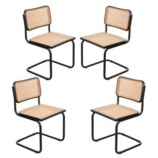 Early 20th Century Vintage Bauhaus-Style Steel Side Chairs- Set of 4 Preview