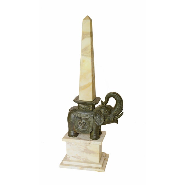 Italian Bernini's Little Elephant & Obelisk Sculpture For Sale - Image 3 of 5