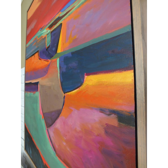 """Abstract Expressionism Abstract Southwestern Landscape """"Twilight"""", Jamie Chase For Sale - Image 3 of 10"""