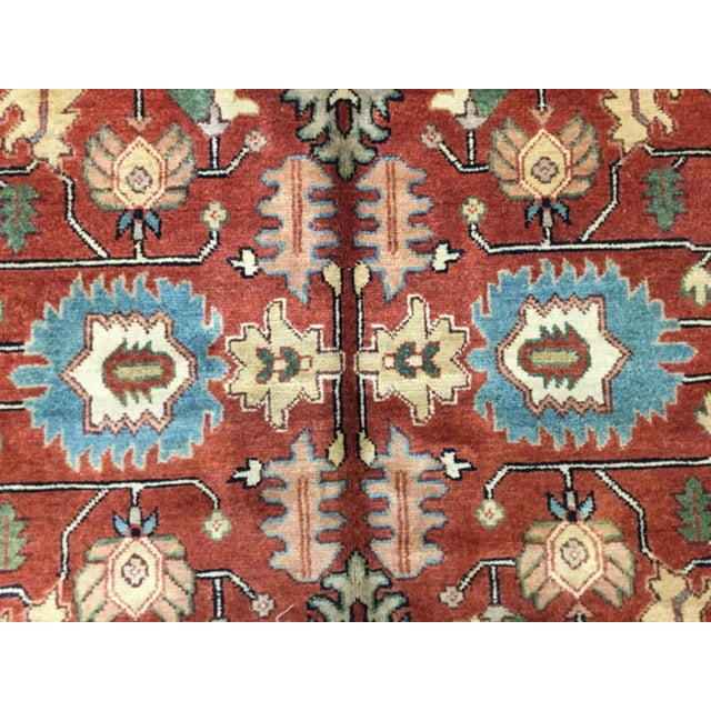 Transitional Indo-Persian Heriz Rug - 8′2″ × 9′10″ For Sale - Image 3 of 7