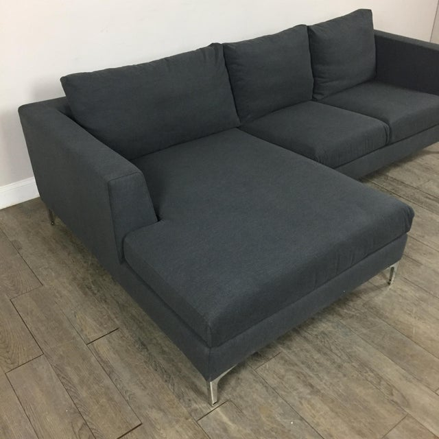 Modern Gray Left Chaise Sectional Sofa - Image 6 of 8