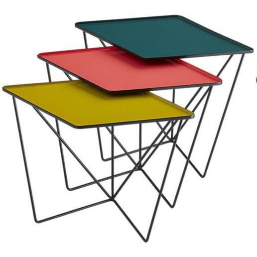 CB2 Modern CB2 Bright Colorful Nesting Tables - 3 Pieces For Sale - Image 4 of 4