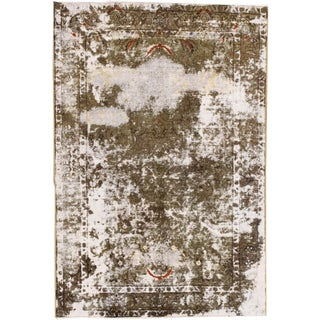 """Vintage Persian Distressed Rug, 3'05"""" X 5'00"""" For Sale"""