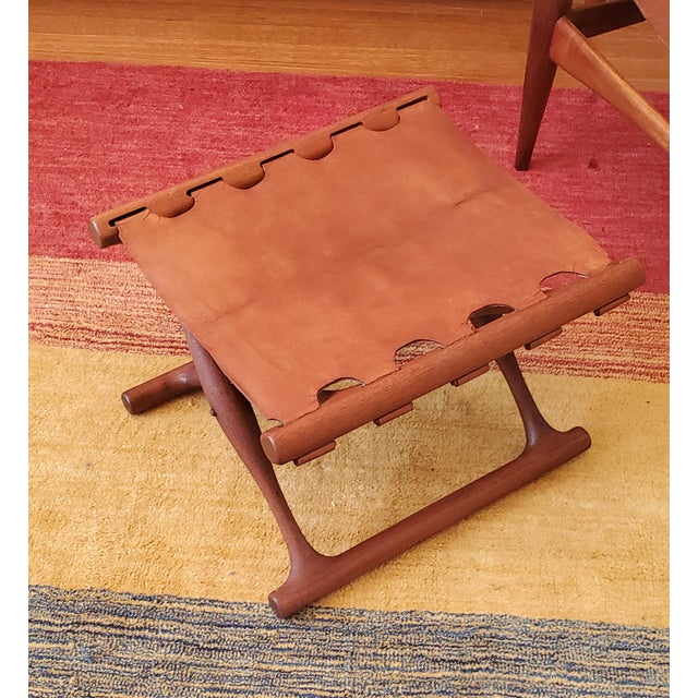 A Danish - Mid-Century Gold Hill Ottoman Stool Designed by Poul Hundevad For Sale - Image 10 of 11