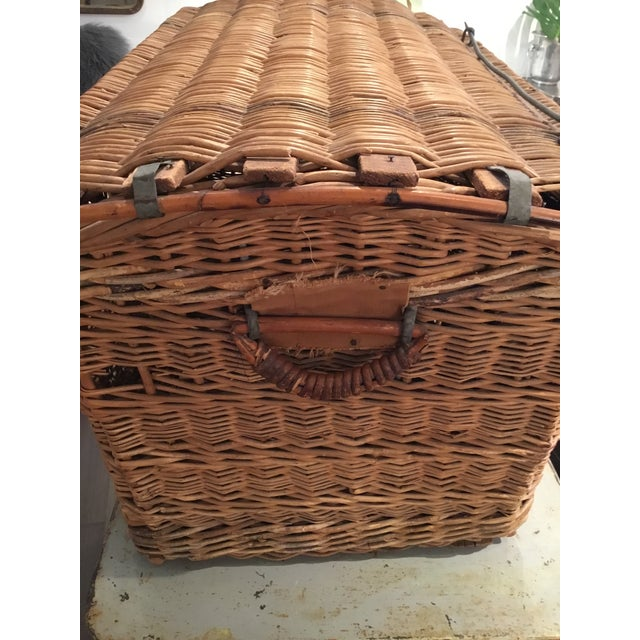 20th Century French Woven Wicker Basket For Sale - Image 9 of 13