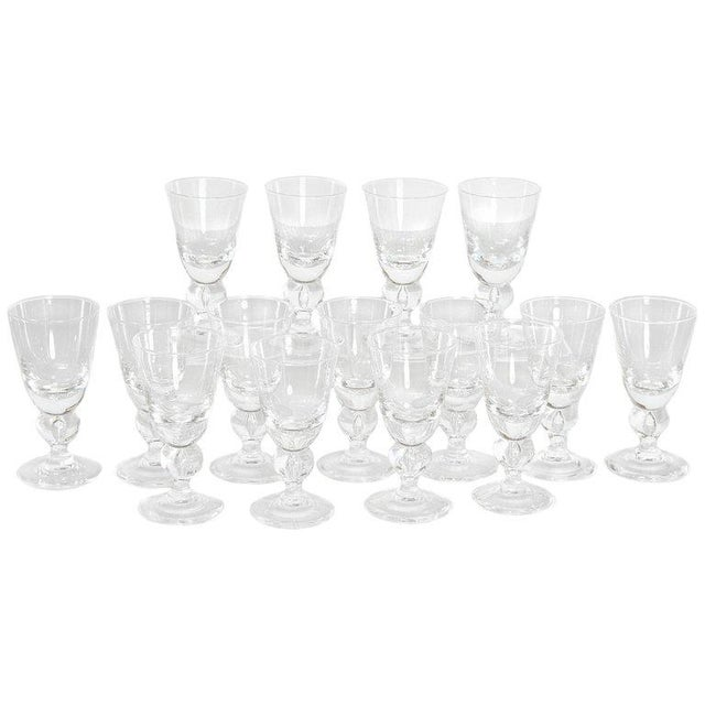 Set of Fifteen (15) Steuben Baluster Water Goblets For Sale - Image 12 of 12