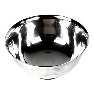1960s Large Silver Plate Reed & Barton Revere Bowl For Sale