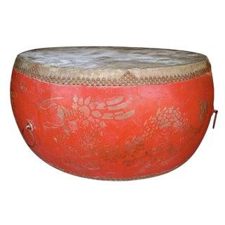1930s Gigantic Asian Drum For Sale