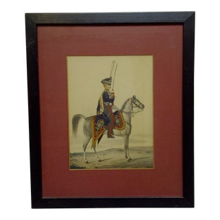 """Hussar Officer of Royal"" Framed & Matted Print For Sale"