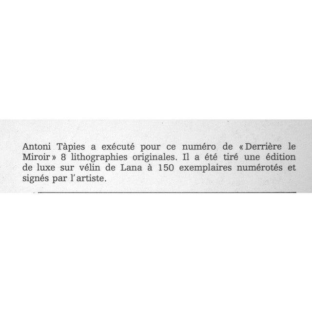 Antoni Tapies Original Limited Edition Lithograph. Size : 38,1x55,9cm. Sur les presses de Maeght, December 1968. This is...