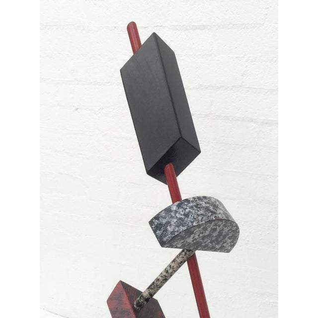 Metal Memphis Acrylic Painted Steel Sculpture For Sale - Image 7 of 10