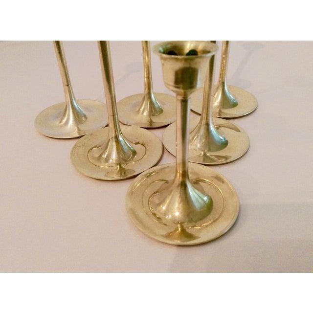 Slender Brass Candlesticks - Set of 6 - Image 7 of 8