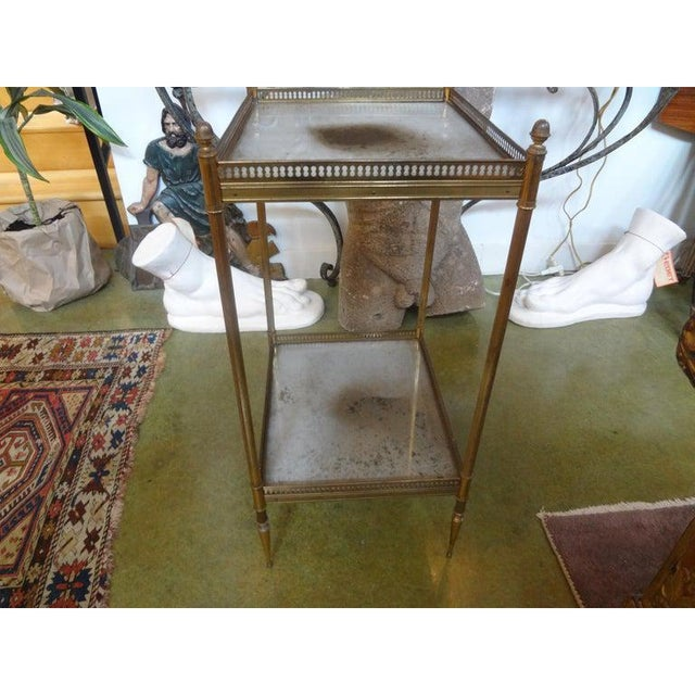 Gold 1940's French Maison Bagues Attributed Bronze Table For Sale - Image 8 of 13
