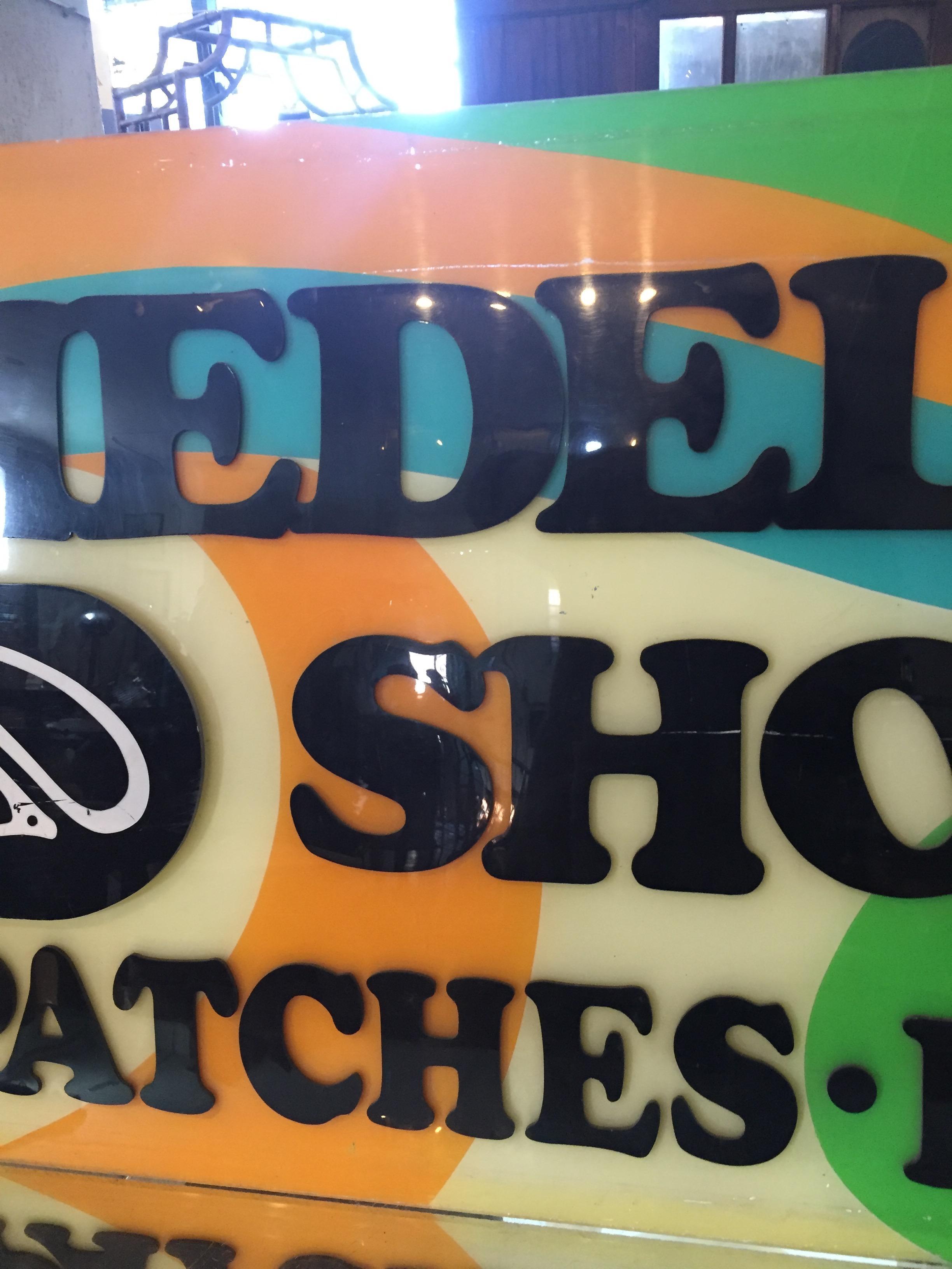 Vintage Handcrafted San Francisco Lucite Psychedelic Shop Sign   Image 6 Of  10