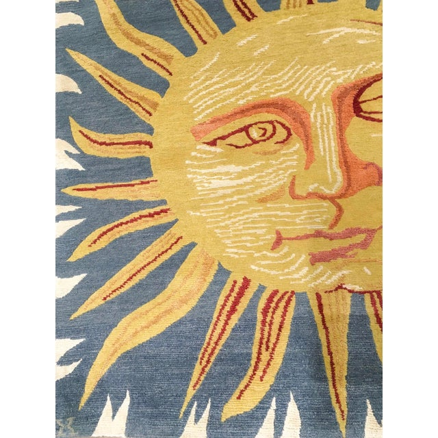 Solana, the Sun Rug, 3' X 3' For Sale - Image 4 of 8