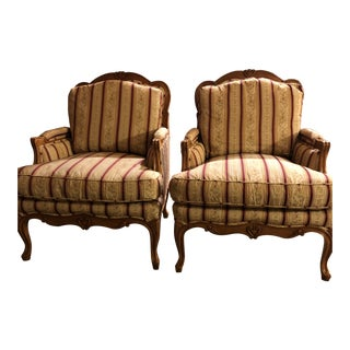 1960s Vintage Baker Crown and Tulip Collection Chair- A Pair For Sale