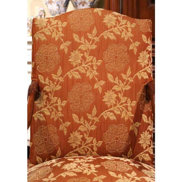 19th Century Louis XV Carved Walnut Armchairs From Provence - a Pair For Sale In Dallas - Image 6 of 13